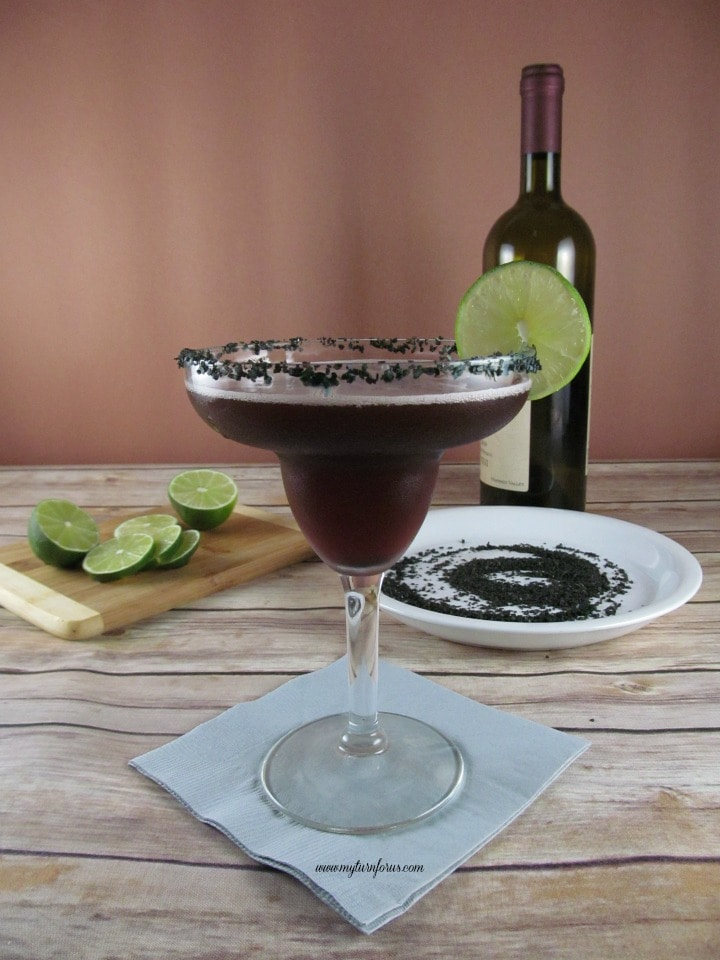 Red Wine Margarita, Black Lava Salt