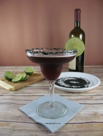 Red Wine Margarita with Black Salt