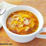 This sopa de pollo recipe makes a healthy bowl of spicy Mexican soup.