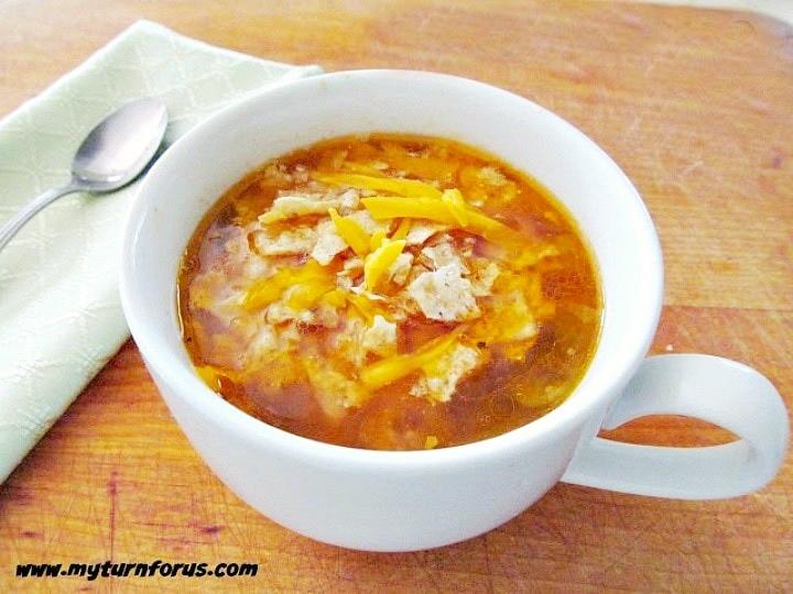 sopa de pollo recipe, spicy Mexican soup