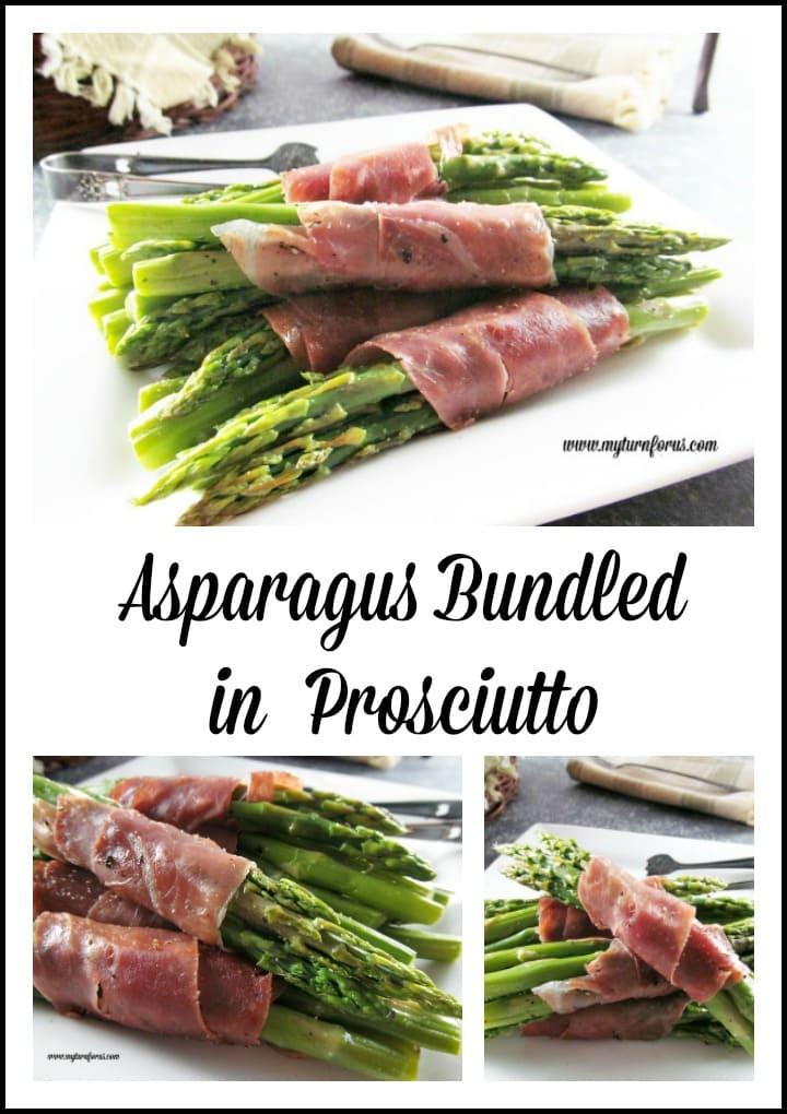 Asparagus bundled in Prosciutto