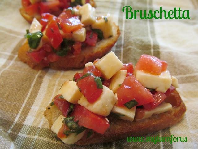 Basil bruschetta