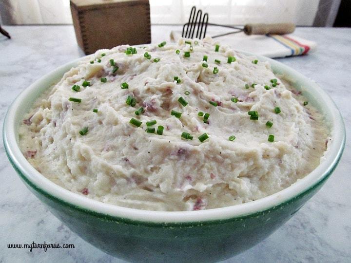garlic red skin mashed potatoes, red skin mashed potatoes