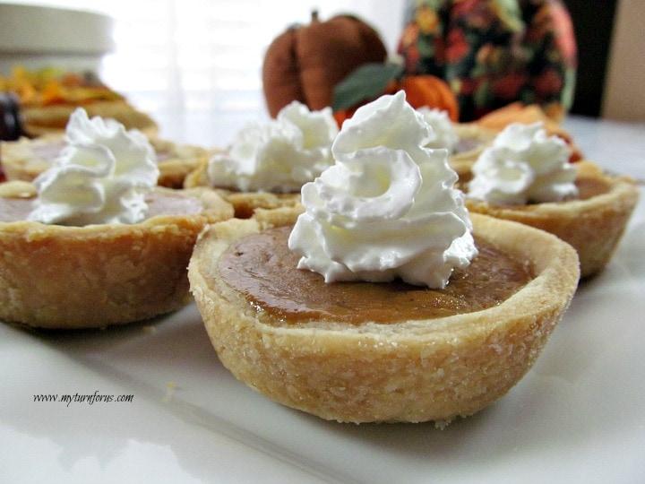 Mini Pumpkin Pie in a muffin tin