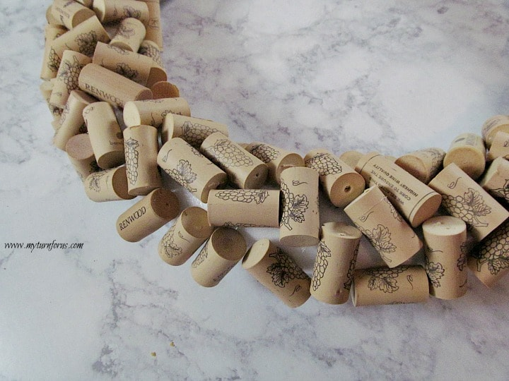 Wine cork Wreath, Christmas Wreath