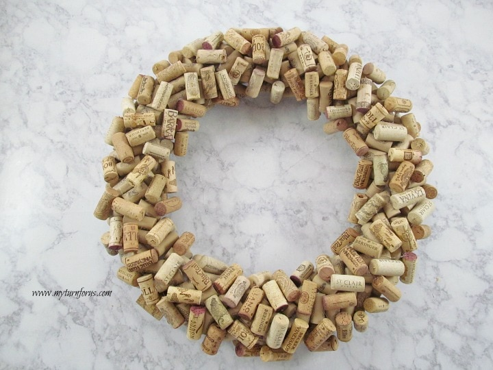 Wreath from wine corks