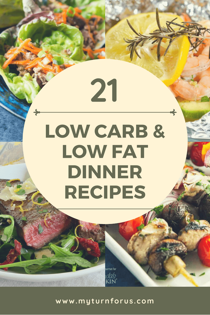 low carb and low fat recipes