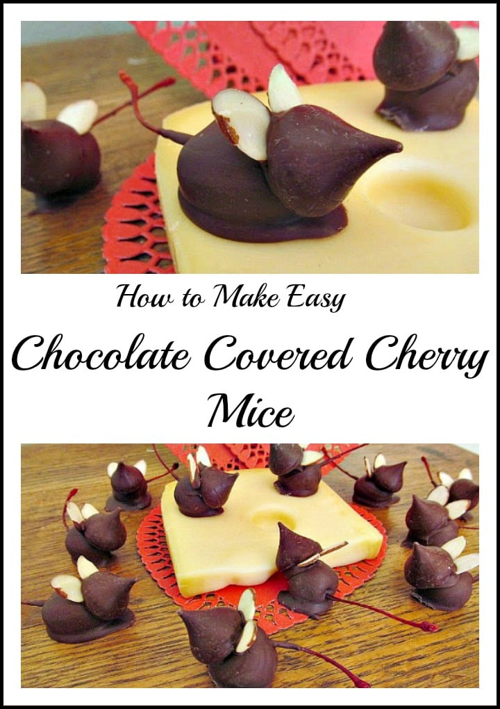 Easy chocolate Cherry Mice