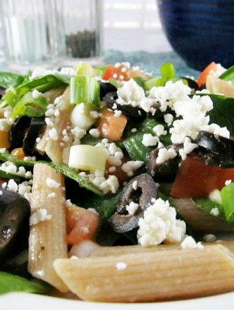 The Best Fresh Spinach Salad with Pasta