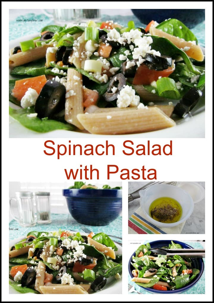 Spinach Salad with Pasta