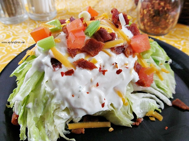 creamy salad dressing, wedge salad recipe