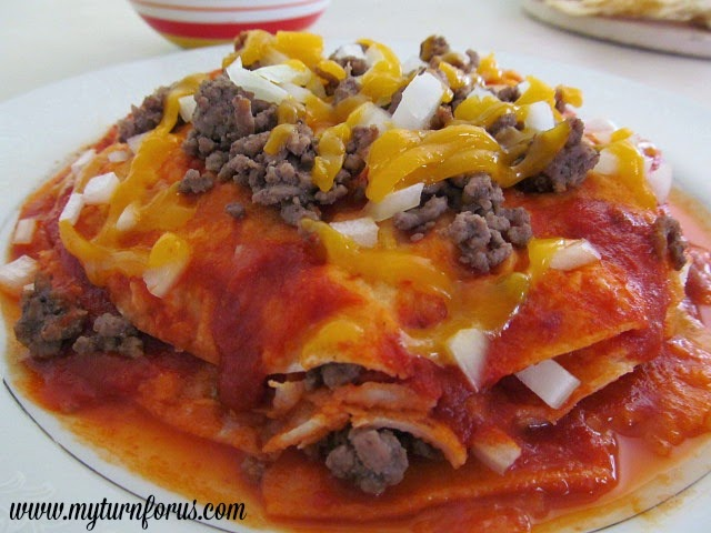 Red Enchiladas Stacked Chihuahua Style