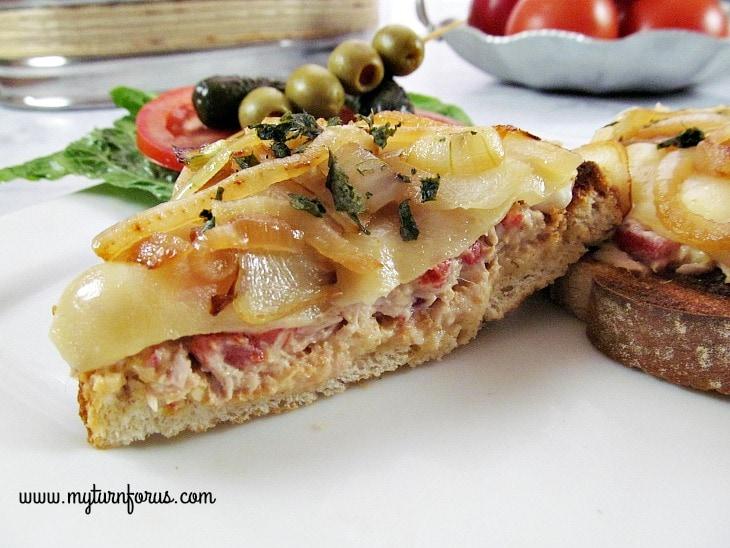 Tuna Spread, Open faced tuna melt, tuna sandwich spread
