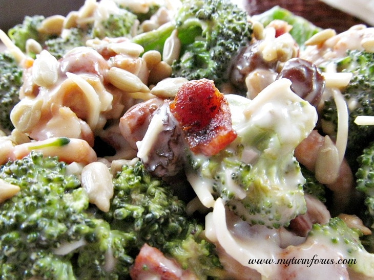 Easy broccoli crunch salad