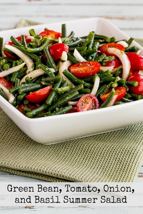 green beans with sweet basil