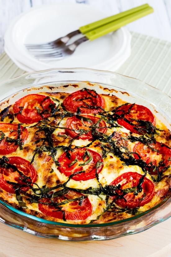 tomato basil quiche