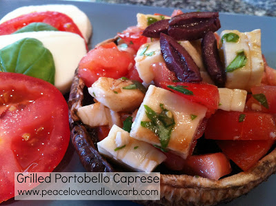 grilled portobello caprese with sweet basil