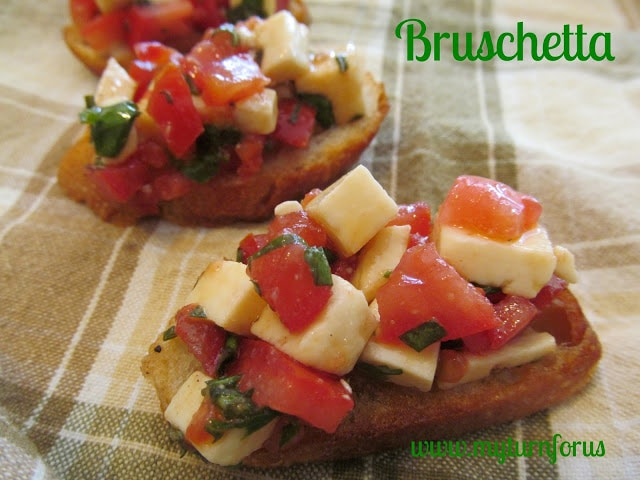 bruschetta with sweet basil