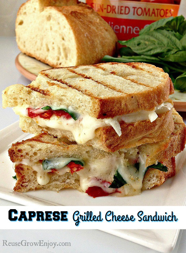 caprese sandwich with sweet basil