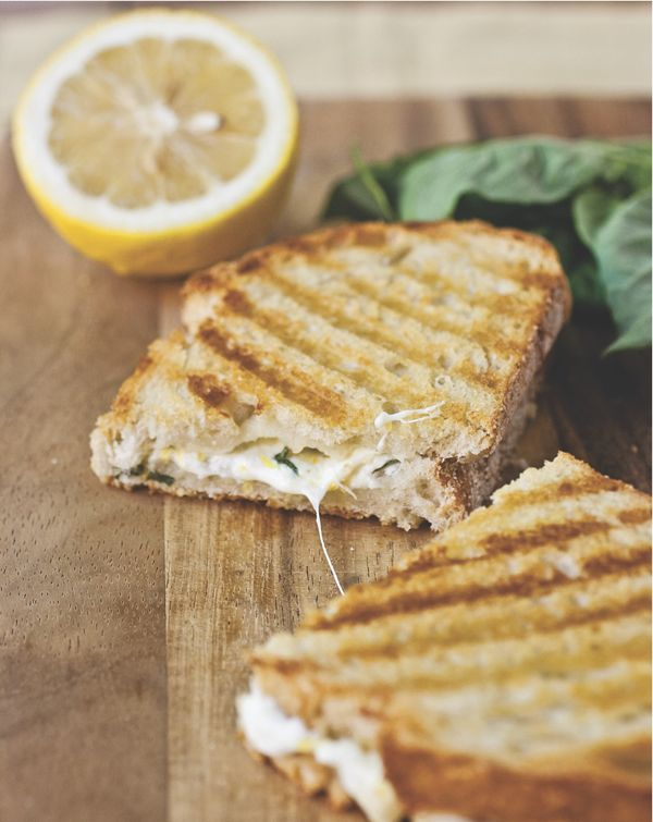 grilled panini with sweet basil