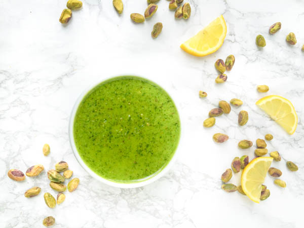pistachio basil sauce