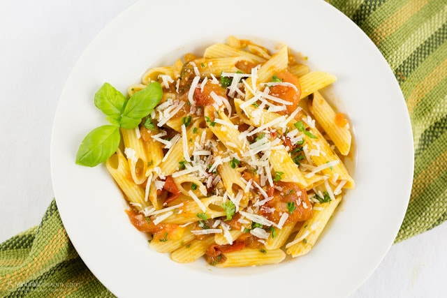 penne with fresh basil sauce