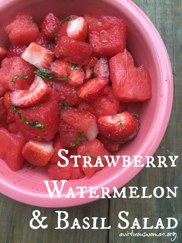 watermelon and basil salad