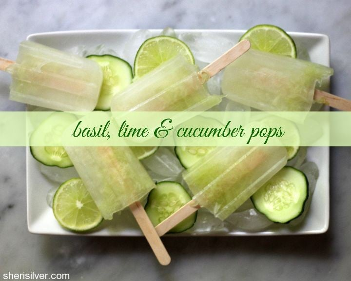frozen basil pops