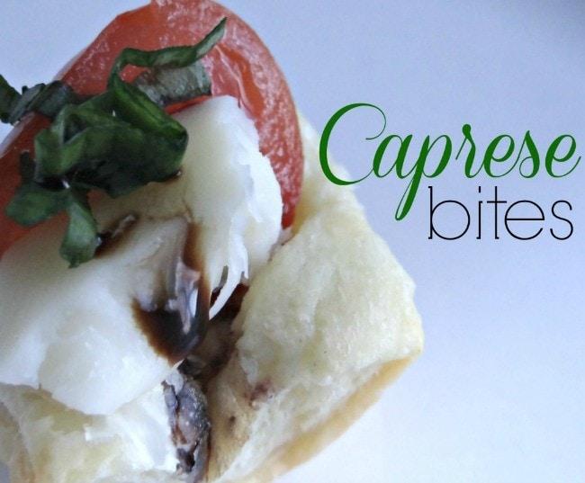 caprese bites with sweet basil