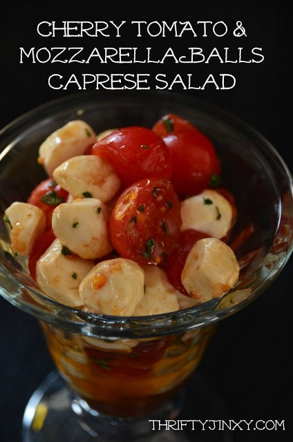 caprese salad with sweet basil