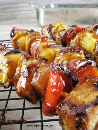 How to make the best Grilled BBQ Chicken and Pineapple skewers