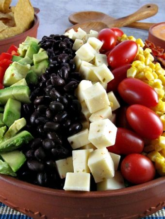 Southwestern Cobb Salad with Chipotle Ranch Dressing