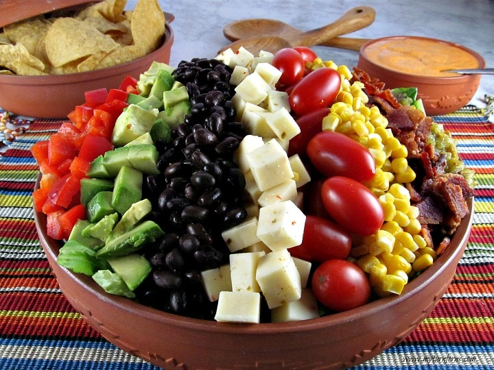 Mexican Cobb Salad, Southwest Salad Dressing
