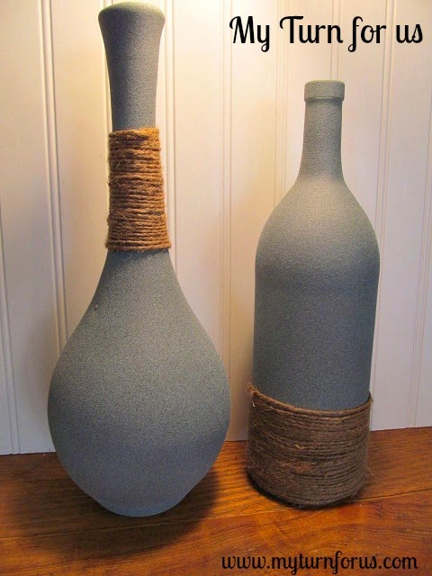 DIY jute wrapped vases