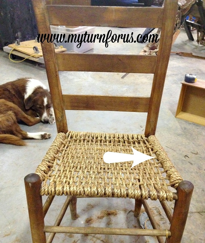 reweave a hemp seat on an old chair