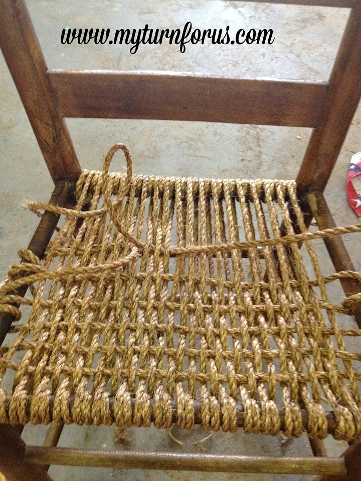 how to weave a hemp seat