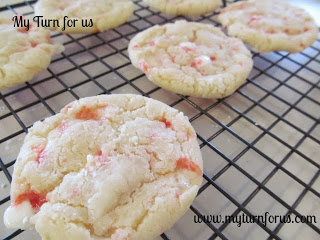 Christmas Candy Cane Chewy Cookies