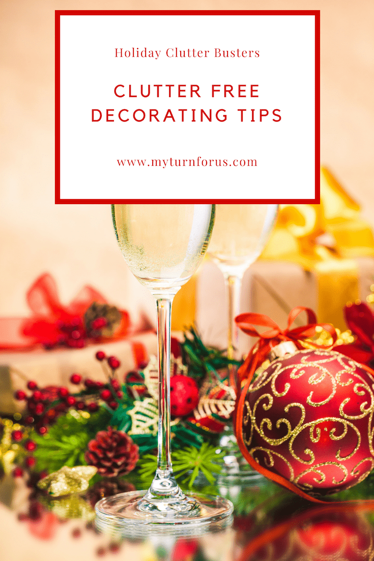 clutter busters, clutter free, clutter free holiday decorating