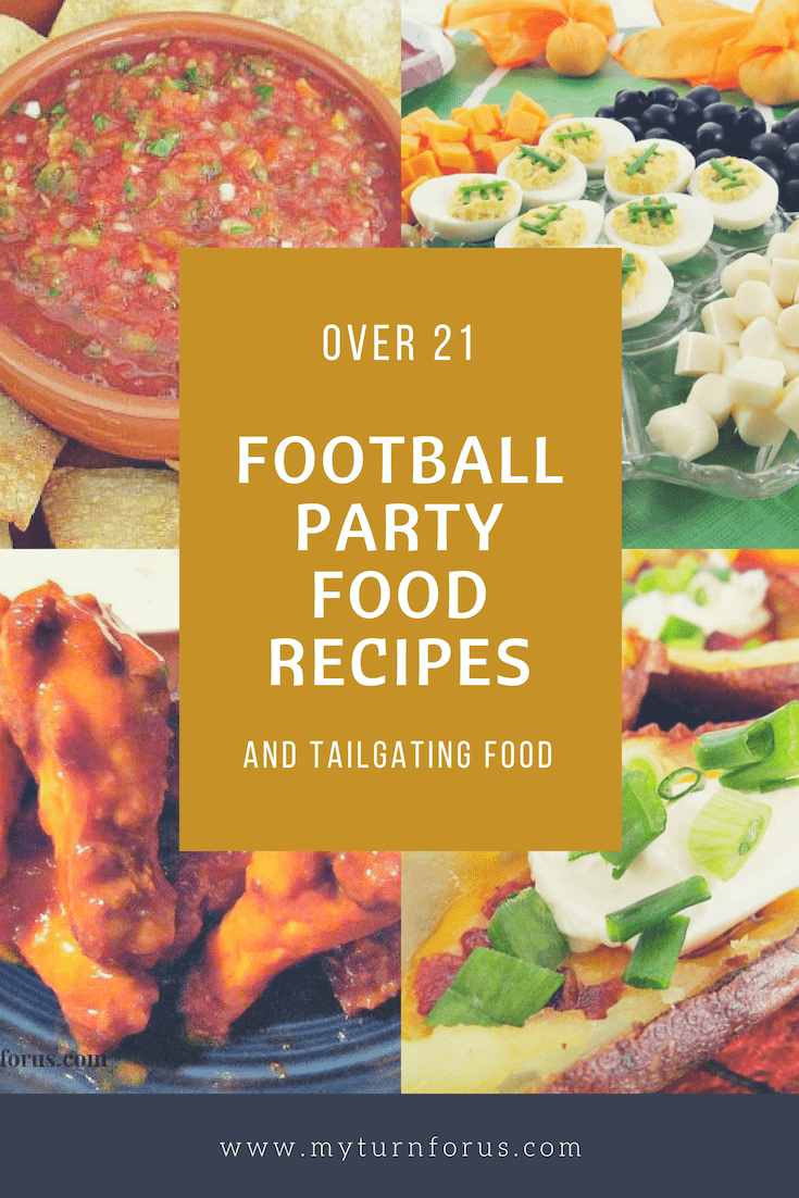 Football Party Food Recipes, game day appetizers, tailgate food