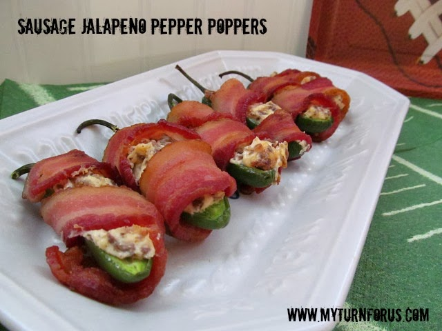 sausage stuffed jalapeño poppers, sausage cream cheese stuffed peppers, sausage stuffed jalapeno poppers