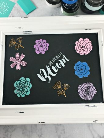 Easy Chalkboard Art with Chalkboard Stencils