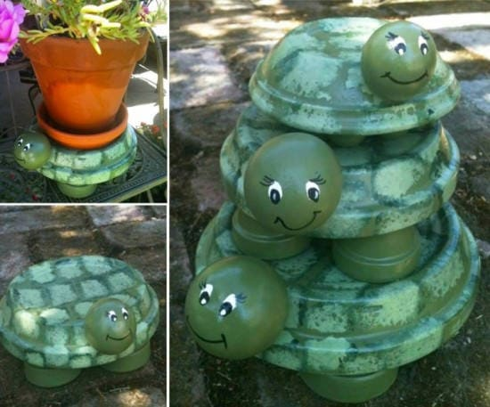 Terra Cotta Turtles