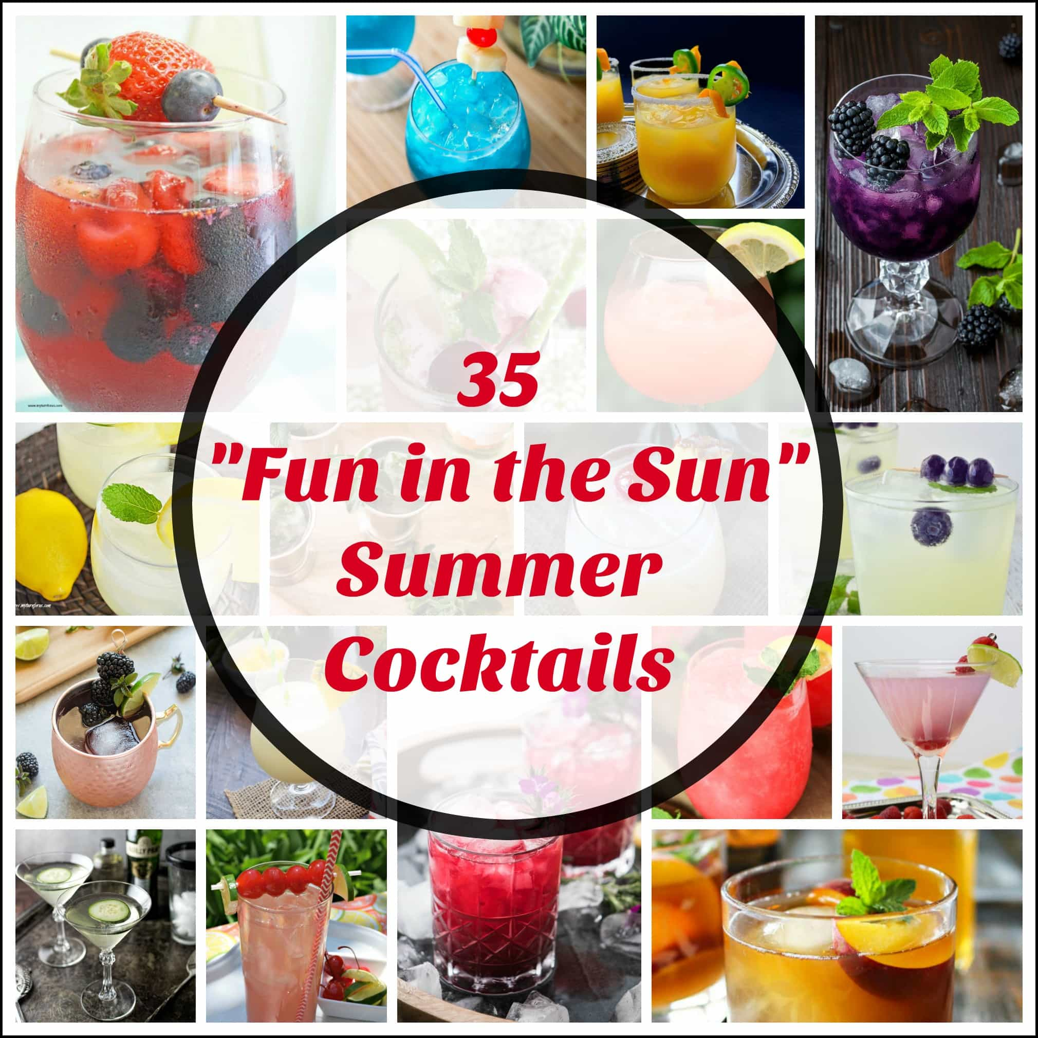 Fun in the Sun summer Cocktails