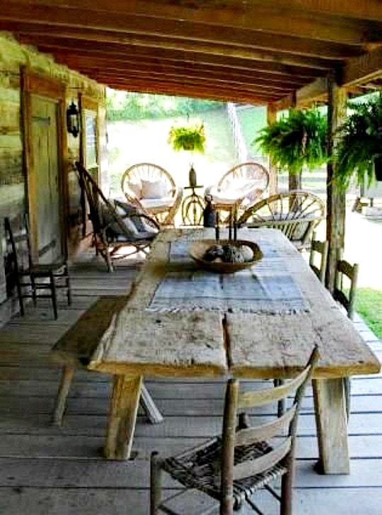 Farmhouse Porch Table