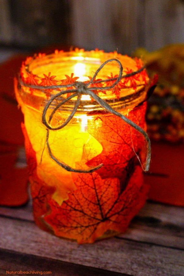 19 Fun And Easy Fall Mason Jar Crafts My Turn For Us