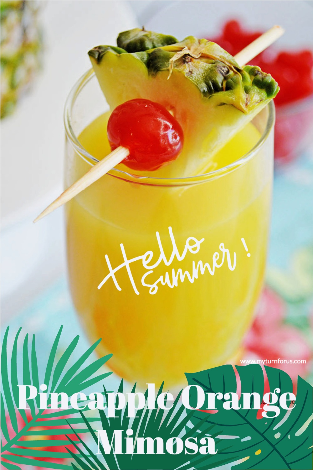 Our best mimosa recipe contains rum, pineapple, and orange juice for a Pineapple Mimosa or Pineapple Orange Mimosa or Pineapple Drinks.
