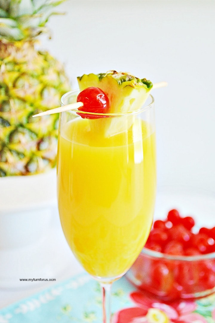 Pineapple Orange Mimosa, Adult Beverage