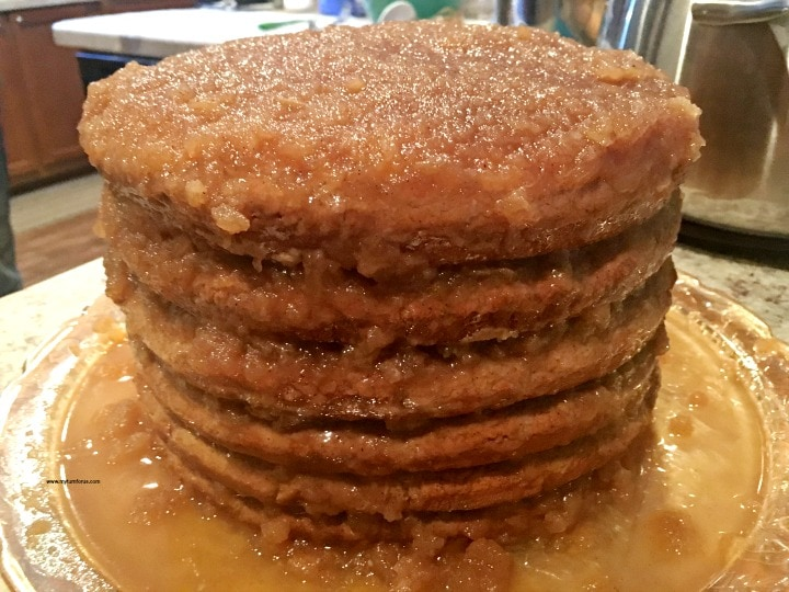 Appalachian Apple Stack Cake, old fashioned stack cake