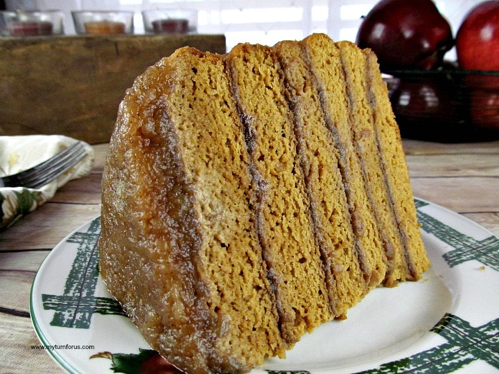 old fashioned stack cake, apple cake, applesauce cake