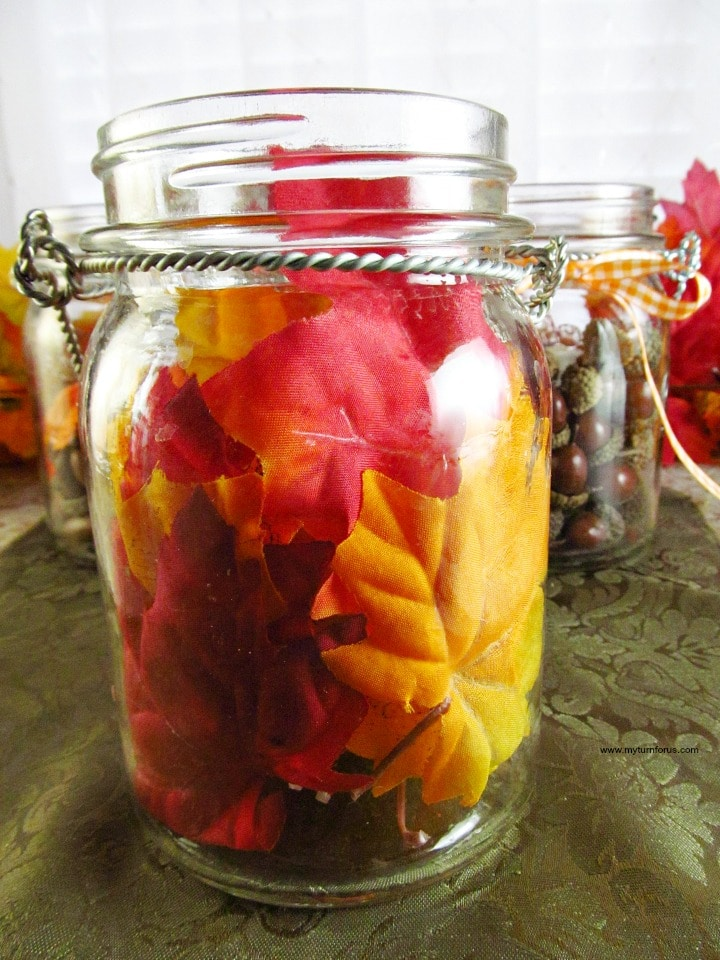 fall mason jar ideas, mason jar centerpieces